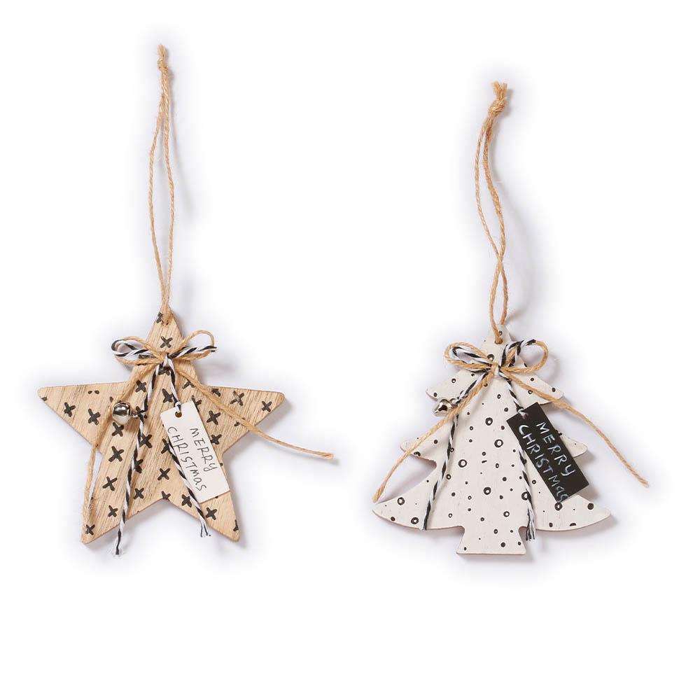 Weihnachtsbaumschmuck Stern und Baum