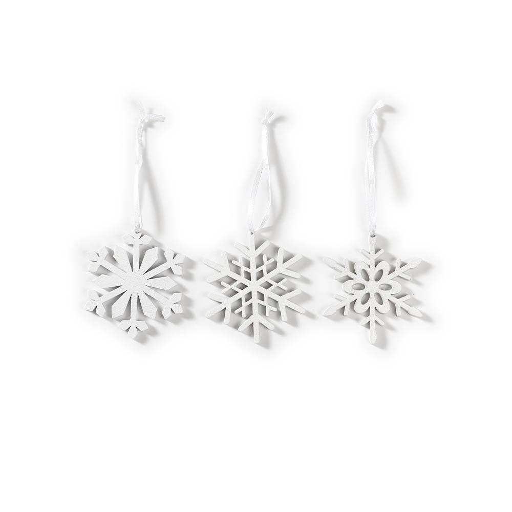 Weihnachtsbaumschmuck Schneeflocken weiß