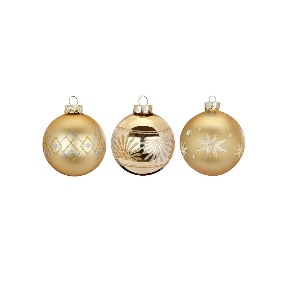 Weihnachtsbaumkugeln gold