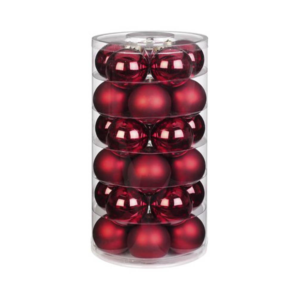 Weihnachtsbaumschmuck Kugeln rot