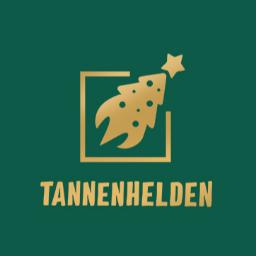 Logo Tannenhelden Gold auf Grün