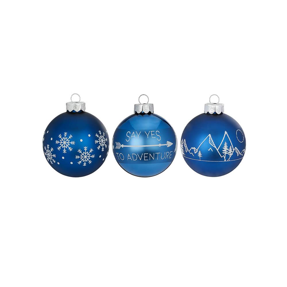 Weihnachtsbaumkugeln blau
