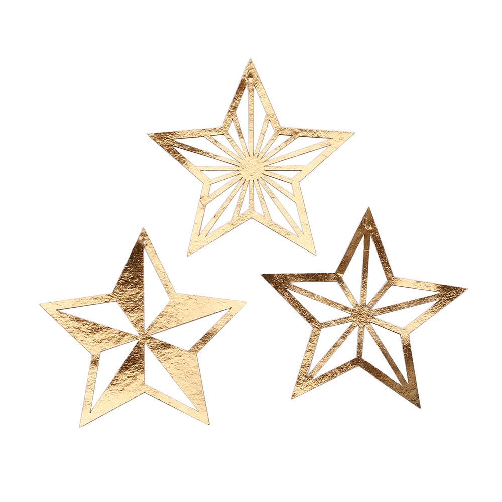 Weihnachtsbaumschmuck Sterne gold