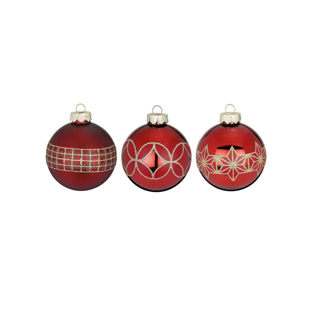 Weihnachtsbaumkugeln rot