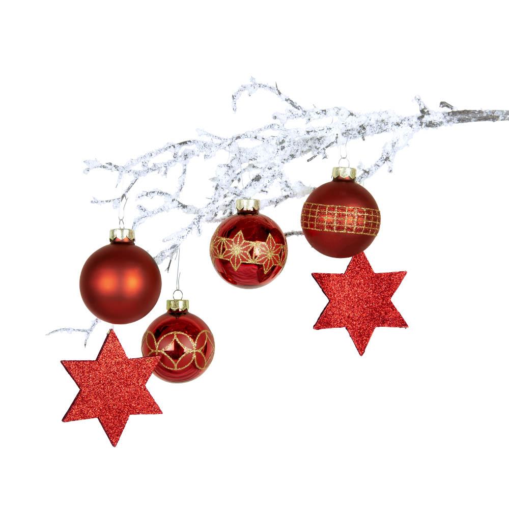 Weihnachtsbaumschmuck rot