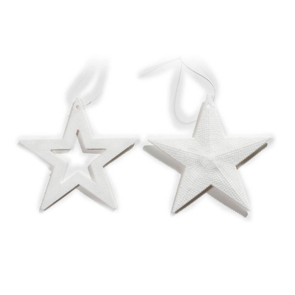 Weihnachtsbaumschmuck Sterne weiß