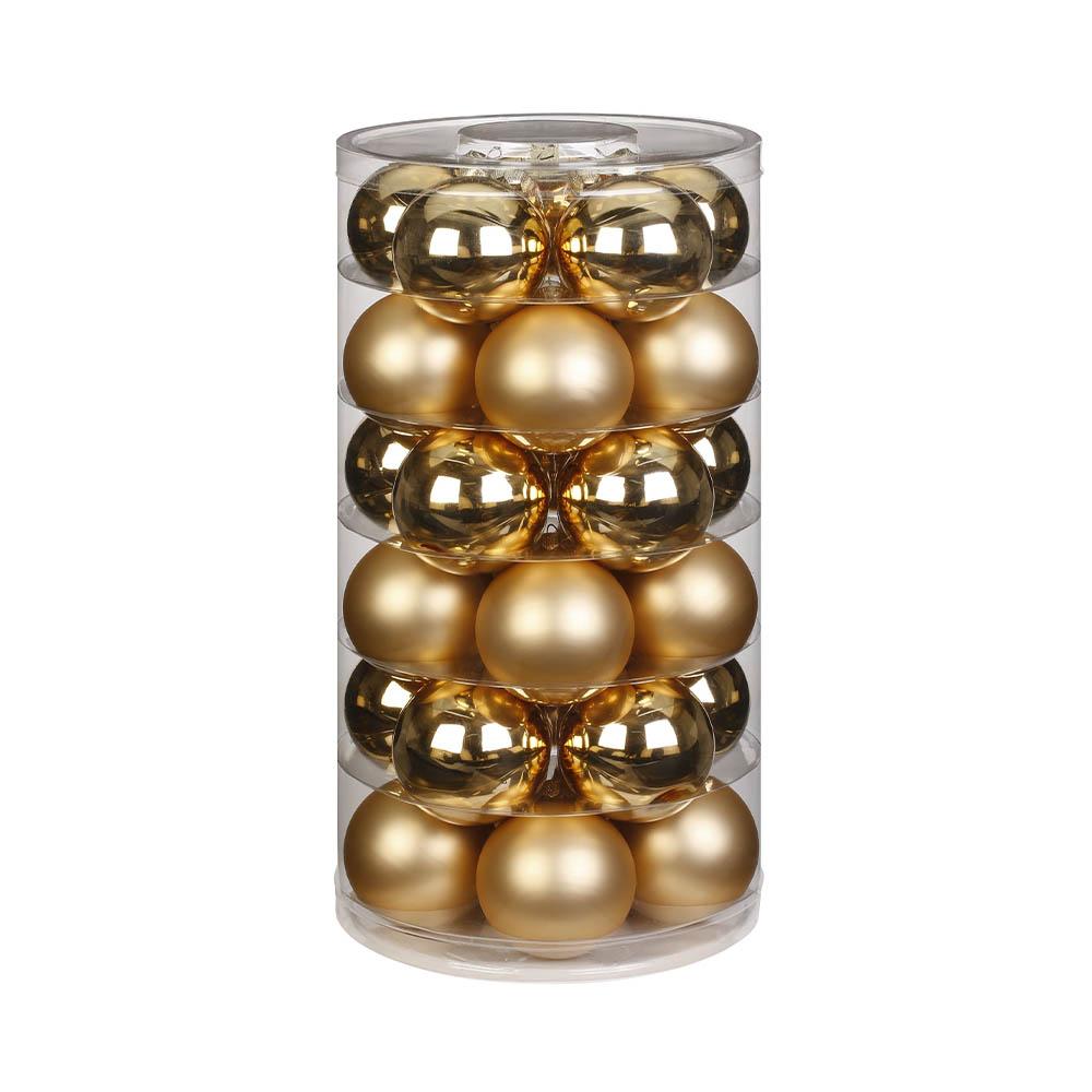 Weihnachtsbaumschmuck Kugeln gold