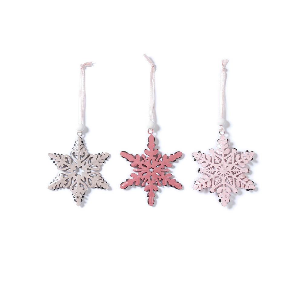 Weihnachtsbaumschmuck Sterne rosa